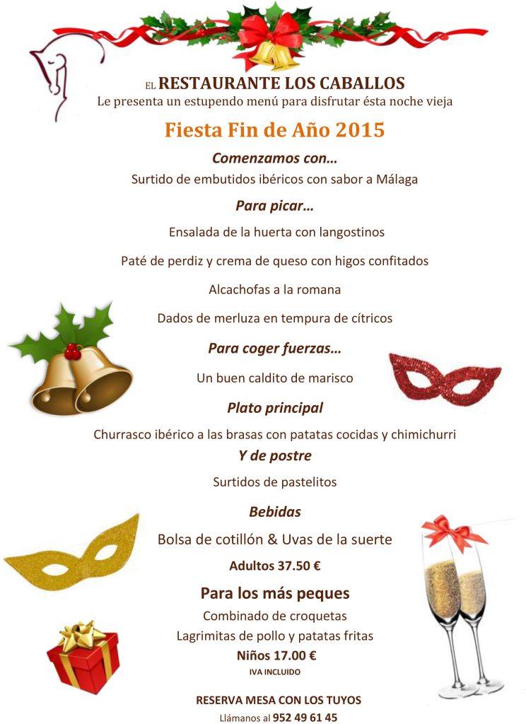 Cena de nochevieja 2015 16 restaurante los caballos - Menu cena de nochevieja ...