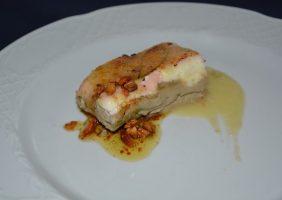 Restaurante-los-Caballos-Alora-Malaga-milhojas de foie queso y manzana-min