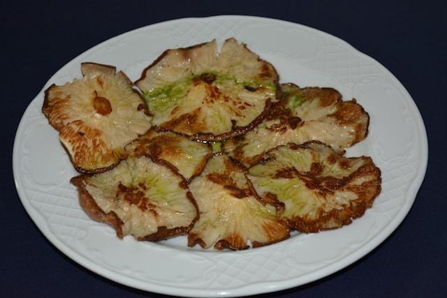 Restaurante Los Caballos Álora Málaga cocina tradicional setas a la plancha