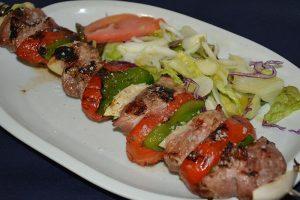 Restaurante los caballos Álora Málaga restaurante para celiacos brocheta de solomillo