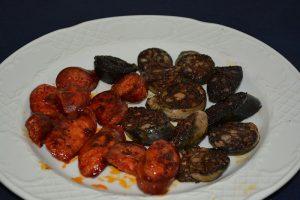 Restaurante los caballos Álora Málaga restaurante para celiacos mixto chorizo y morcilla